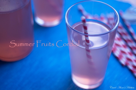 Summer Fruits Cordial Glass